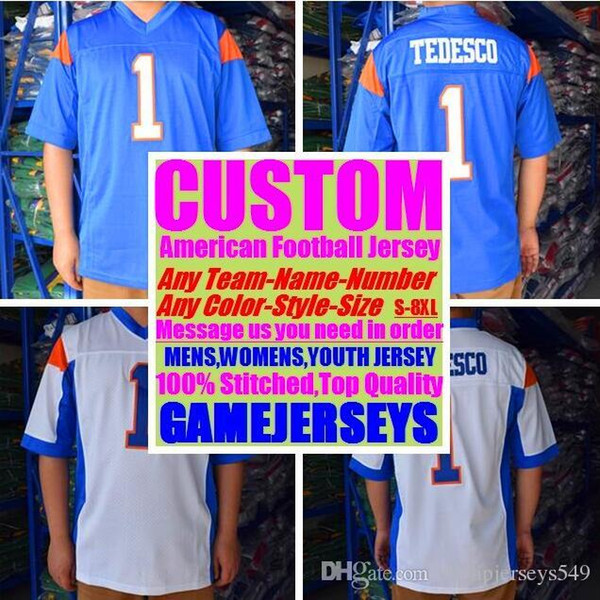 Personalized american football jerseys Custom Washington Miami college authentic cheap baseball basketball mens womens youth USA 4xl big