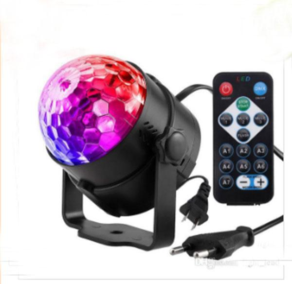 DJ Disco Ball Lumiere 7 Colors Sound Activated Laser Projector RGB Stage Lighting effect Lamp Christmas KTV Music Party DJ Light LLFA
