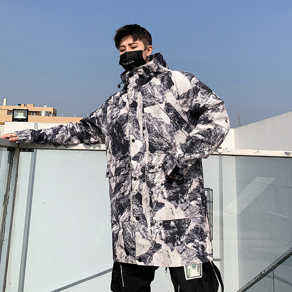 Larga Con Chaqueta Capucha La Los Hombres Trench Coat Coreana De Abrigo Para Hombre De Hombres Camuflaje Abrigo Estilo Calle Compre Gabardina De PkwTZuOXi