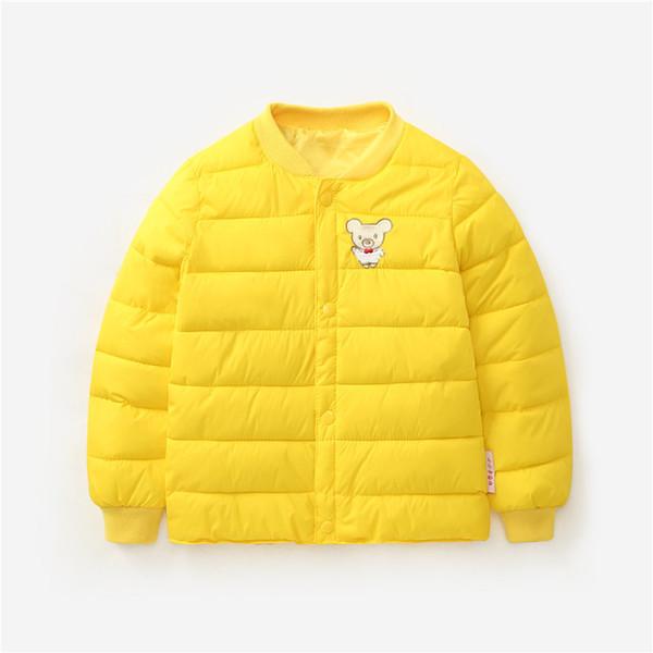 Children's Down Cotton Clothing Boys Girls Kids Winter Parkas Jacket Baby Warm Clothes Thickened Inner Bile Kids Outerwear