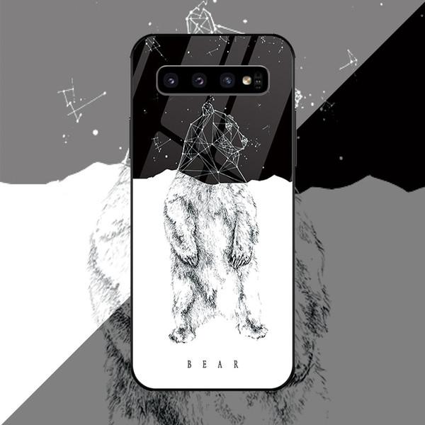 Caso antiurto del telefono di nuovo modo 2019 per Samsung S10 / S10 più popolare caso posteriore del telefono della copertura posteriore protettiva popolare 4 stili