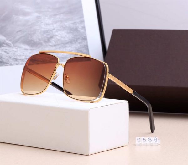 2019 NEW MEN Attitude Aviator Sonnenbrille Gold Damier Pattern Z0536U Herren Sonnenbrille, Damier, Gold Luxus Attitude Sonnenbrille für Männer