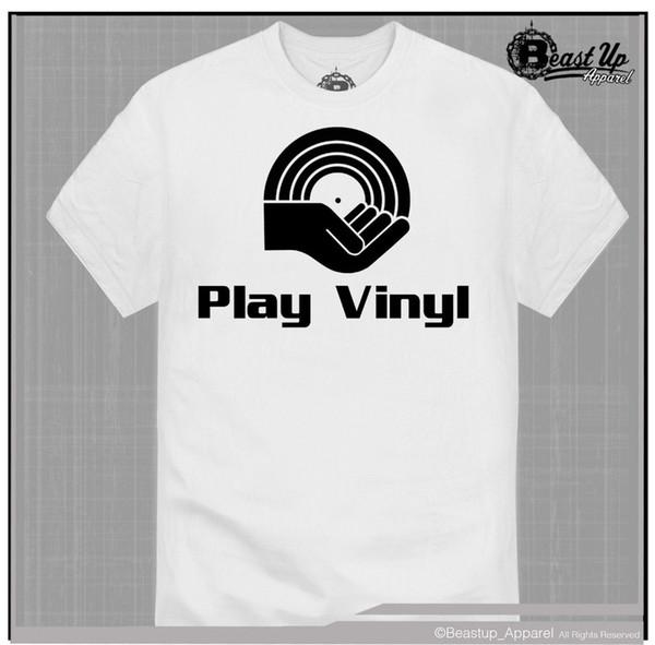 Gioca Vinyl Dj Logo T Shirt Classic Hip Hop Dj Technics 1200 Giradischi Record 2019 T-shirt uomo nuova Moda Uomo