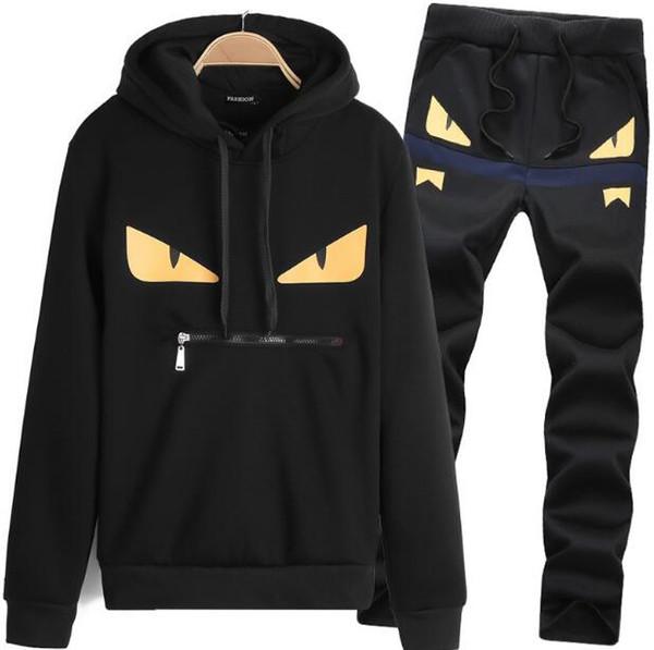 Дизайнер бренд одежды мужские наборы флис спортивная одежда наборы толстовка мужчины зимняя мода печати наборы спортивный костюм для человека спортивный костюм