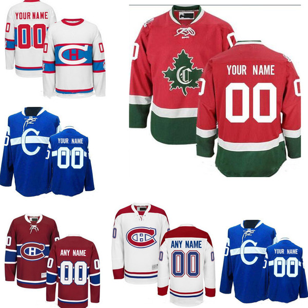premium selection 57be7 01ae5 2019 Custom Montreal Canadiens Mens Womens Youth Away Winter Classic Third  C White Blue Red Any Name Any Number Stitched Hockey Jerseys S 4XL From ...