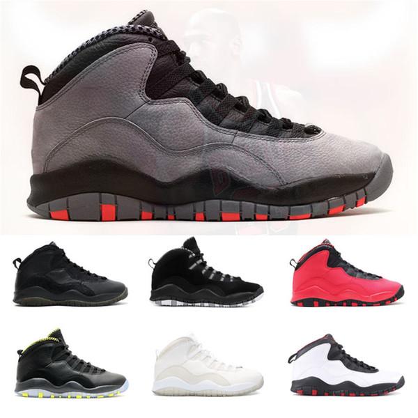 Scarpe da pallacanestro da uomo 10 10s di alta qualità Sneakers da uomo Cemento Tinker rosso fusione Bobcats Chicago veleno bianco designer scarpe da ginnastica Scarpe sportive 40-47