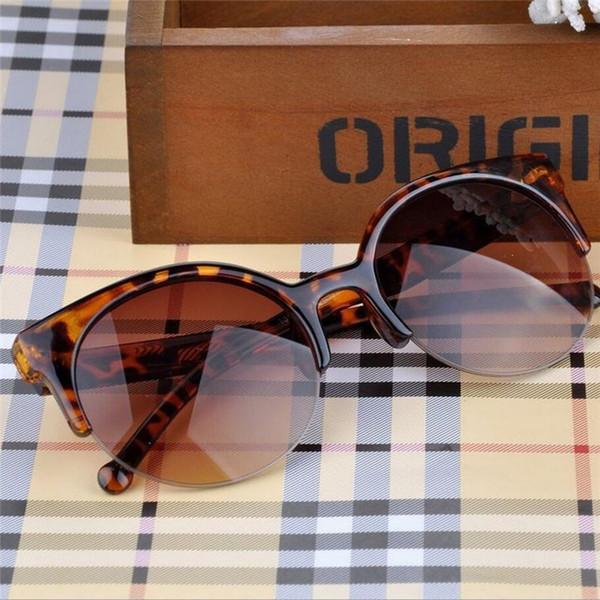 Oculos De Sol Feminino 2019 nuovo retro stilista eccellente rotondo del cerchio Occhiali dell'occhio di gatto delle donne degli occhiali da sole Occhiali