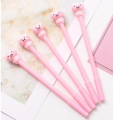 Милый розовый мультфильм свинья гелевая ручка 0.5 мм черные чернила ручки школа офис письменные принадлежности Каваи канцелярские подарок