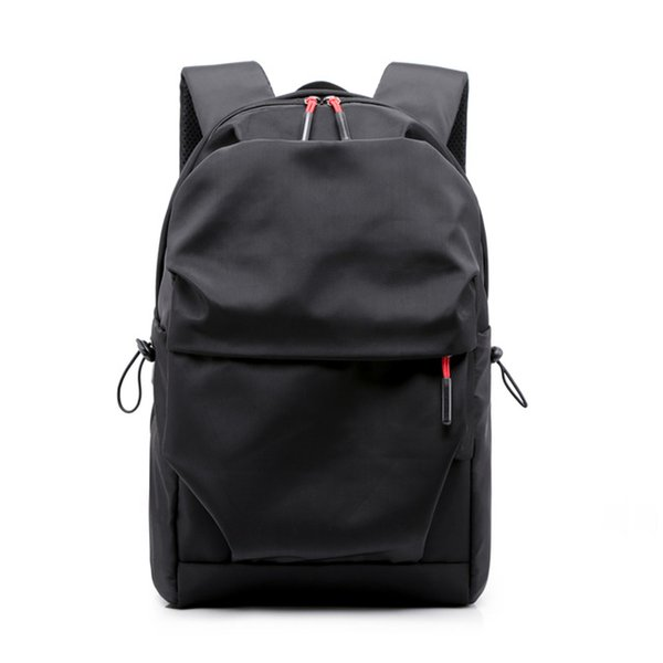 New Men's Backpack 15.6-inch Laptop Backpack Large Capacity Stundet Backpack Pleated Casual Style Bag Waterproof 2019 (white)