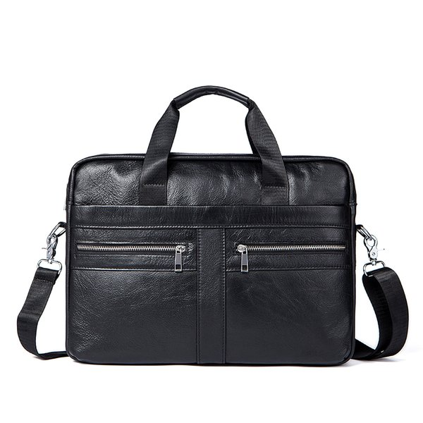 Fashion Men Crossody Bag Cowhide Genuine Leather Men's Briefcase Fashion Large Capacity Business Bag Male Shoulder Laptop