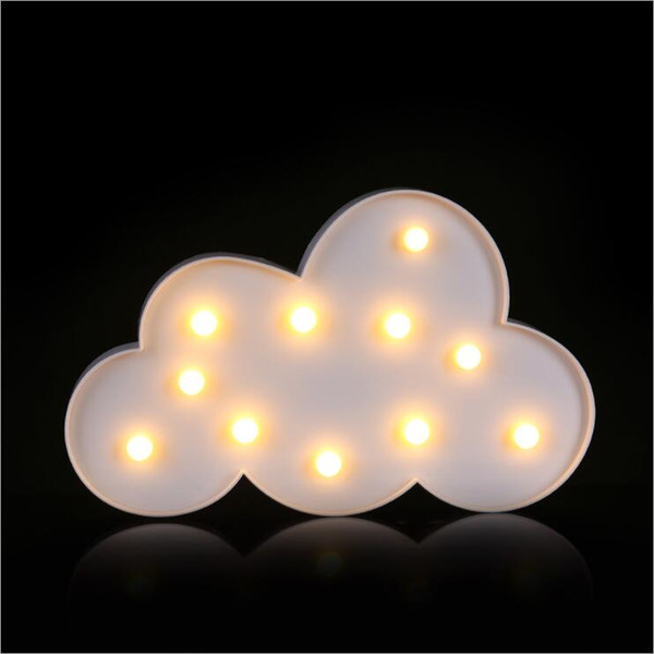 2019 SXI Cloud Lamp Marquee Sign Night Light Battery Operated,Children\'S  Bedroom Home Decorate Nursery Lamp 11 LED Warm White From Mazh2013, $37.19    ...