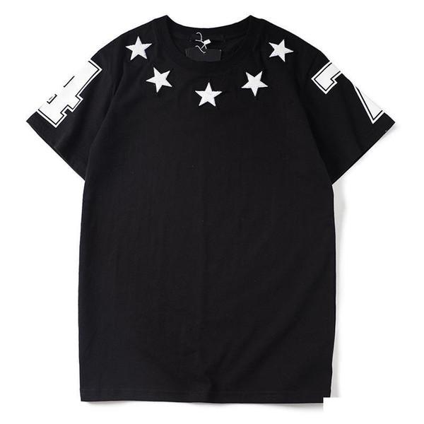 Lüks Erkek Tasarımcı Tişörtlü Tasarımcı Casual Kısa Kollu Moda Yıldız Baskı Yüksek Kalite Erkekler Kadınlar Hip Hop Tees