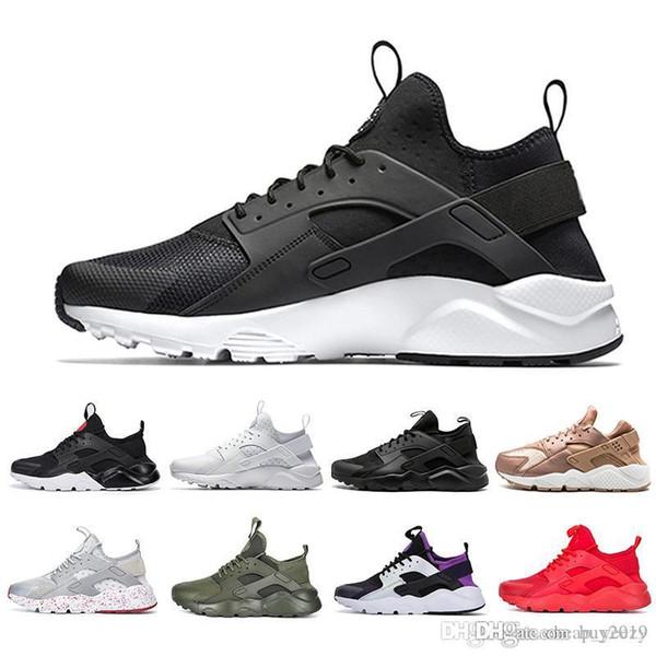 Cheap Huarache 1.0 Run Ultra 4 IV Mens Running Shoes Men Women Huaraches Run Triple black white red Multicolor Trainers sports Sneakers