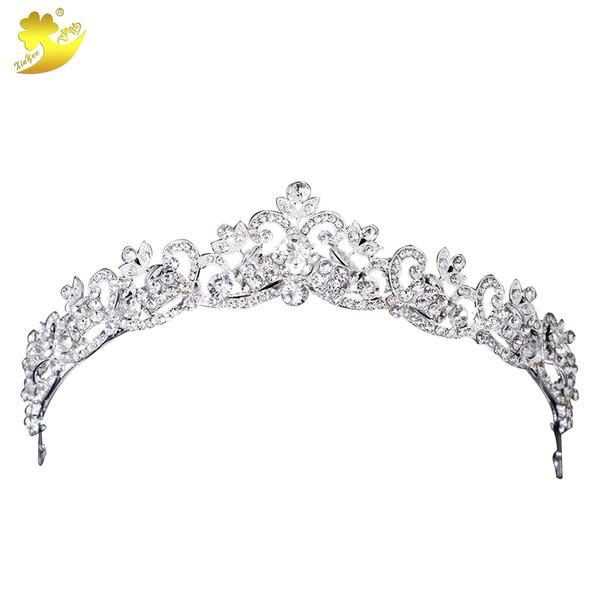 Xinyun Wedding Hair Accessories Head Jewelry Wedding Crown Tiaras Brides Hair Ornaments Hair Jewelry Headpiece Tiaras And Crowns D19011103