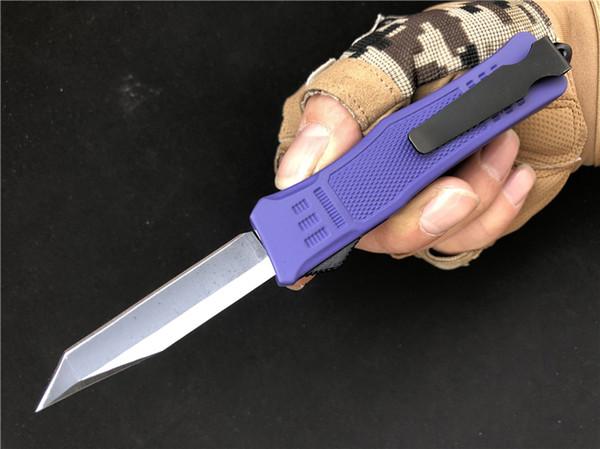 Venta al por mayor 7 pulgadas de tamaño pequeño 616 D / A Cuchillo de Combate EDC Morado Supervivencia Cuchillo UT equipo de camping cuchillos P55Q