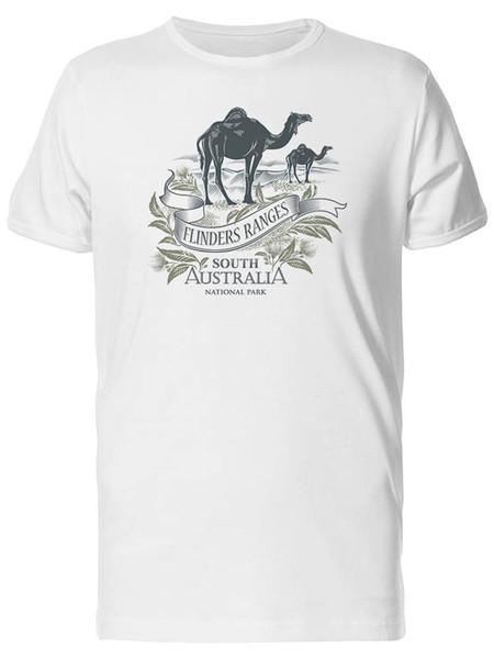 Flinders Ranges camelos masculino Tee-imagem por atacado