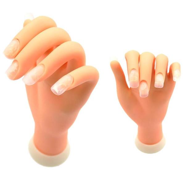 Manico flessibile in plastica morbida Modello manico flectional Mano finta Nail Art Pratica Strumento di visualizzazione Chiodi Gli accessori possono piegarsi