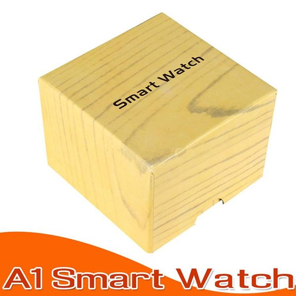 새로운 A1 블루투스 스마트 시계 블루투스 스마트 워치 피트니스 추적기 보수계 수면 모니터 삼성 LG 안드로이드 전화 상자