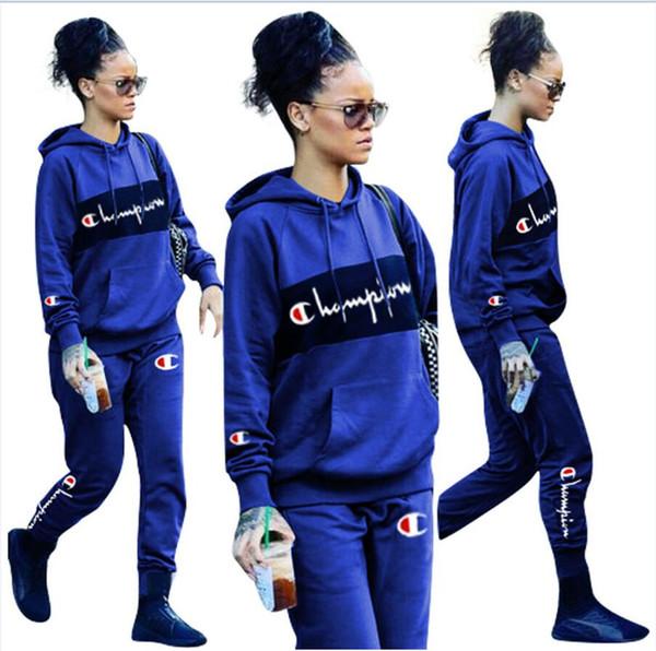 19SS kanye west Vêtements pour femmes Bonnet à capuche Manches longues Veste + pantalon Imprimé Alphabétique Vêtements Marque Vêtements pour femmes