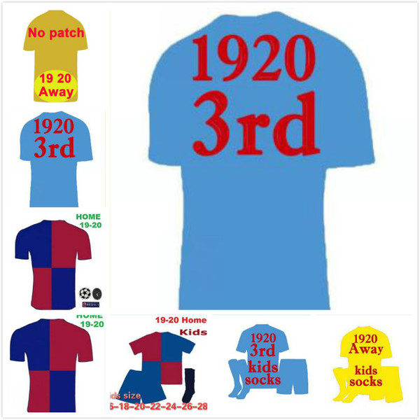 19 20 MESSI SUAREZ Home Away Mens Soccer Jerseys 18 19 PIQUE COUTINHO DEMBELE 3rd Football Shirts RAKITIC DE JONG Short Sleeves Uniforms