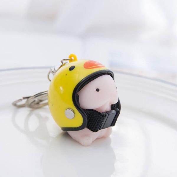 Ours mignon de bande dessinée Panda Casque Keychain Cure décoration intérieure Cadeau Jouet drôle Keyring voiture Décoration 9449