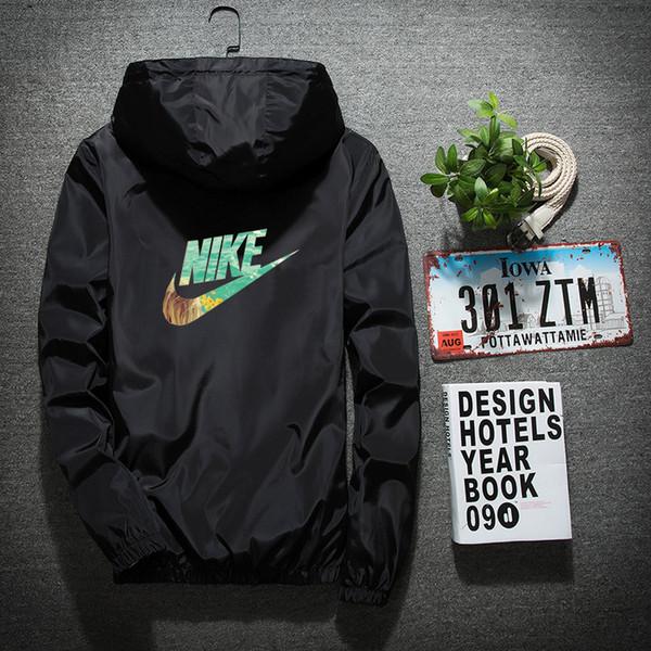 top popular Windbreaker Men Casual Spring Autumn Lightweight Jacket 2019 New Arrival Hooded Contrast Color Zipper up Jackets Outwear Cheap 2019