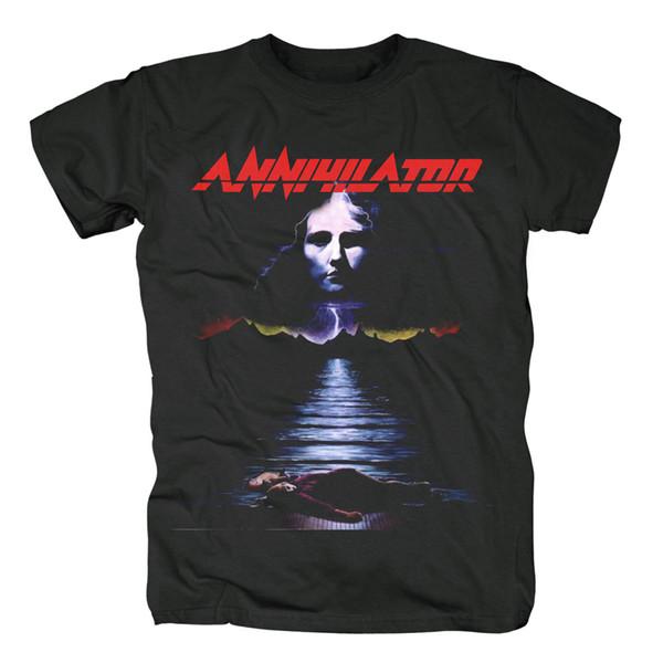 Annihilator Kaya Thrash Metal Müzik Siyah Yaz T-shirt