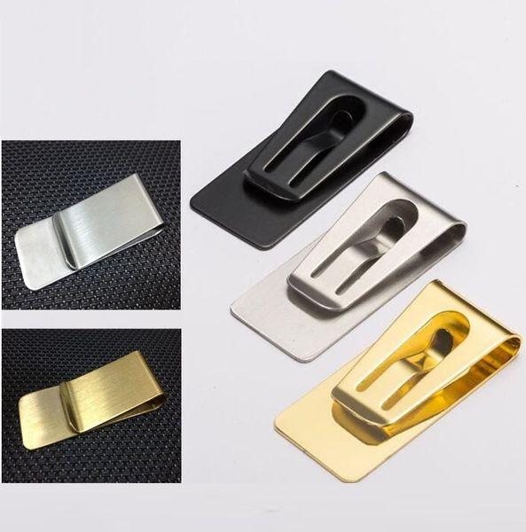 Mode Simple En Métal En Métal Clip Homme Pince Titulaire Mince D'argent Portefeuille Clip Pince Carte Titulaire de la Carte de Crédit