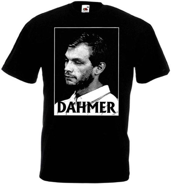 Dahmer v1 T-shirt siyah metal grindcore tüm boyutları S-5XL Komik 100% Pamuk T Gömlek Marka gömlek kot Baskı