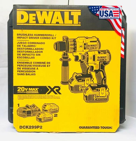 Dewalt 20v dck299p2 bru hle combo kit 2 tool 5 0ah dcd996 dcf887 new 11