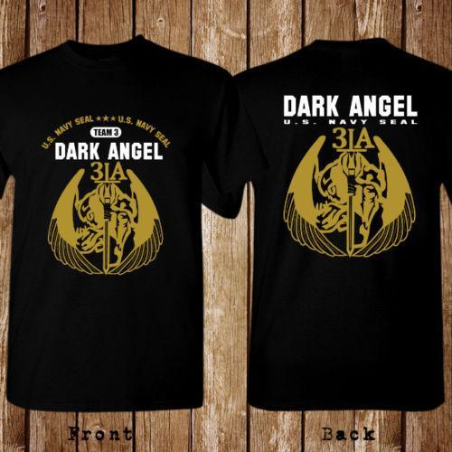 US Navy SEAL Team Dark Angel Logo Balck T-Shirt Unisex funny gift Short  ,short Sleeve T-Shirt ,Tops Round Neck Tees