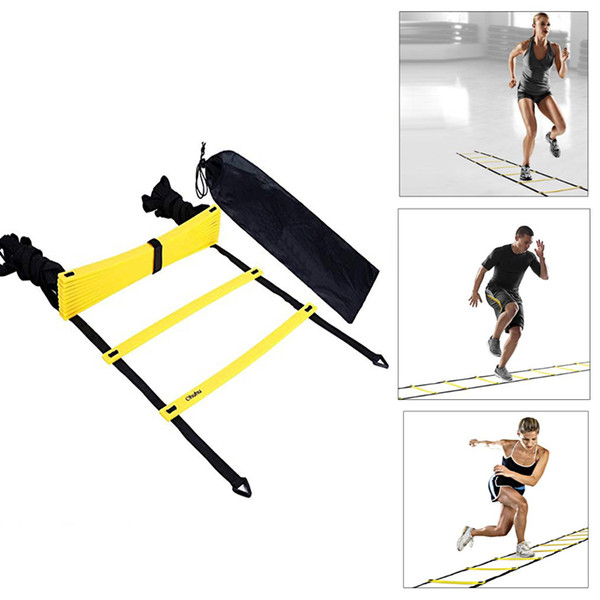 best selling 6m 12 Rung Nylon Straps Agility Training Ladders Soccer Football Speed Ladder Training Stairs Fitness Equipment