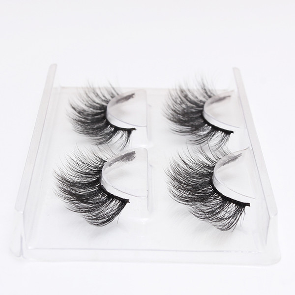 2 Pairs 3d Lashes Natural Long False Eyelashes fashion Volume Fake Lashes Makeup Eyelash Extension Silk Eyelashes