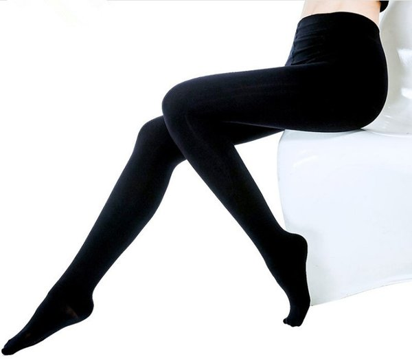 2018 Plus Size Hot Classic Sexy Plus Size Women 600 Den Opaque Footed Tights Pantyhose Thick Tights Stockings Antibiosis Women Tights