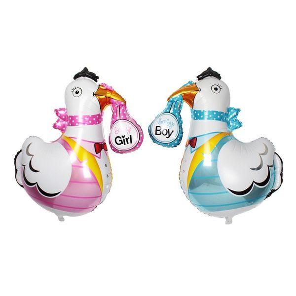 70 * 77cm Palloncino con stagnola di pollo a forma di animale di cartone animato Ragazzo blu Decorazione di stoffa rosa per baby shower
