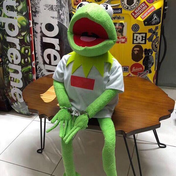 19FW BOX LOGO mascote Kermit Plush Doll Toy Collections Moda soltando semana HFLSWO003