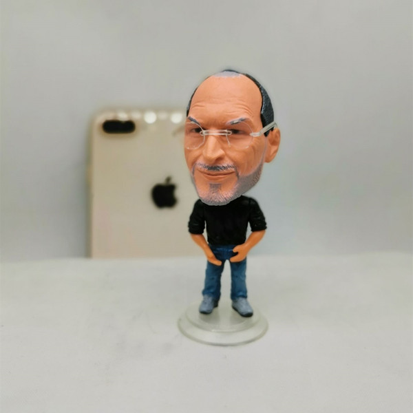 best selling Soccerwe 6.5 cm Height World's Smallest Jobs Doll Figurines Cute with Small Glasses Base Detachable Birthday Gift
