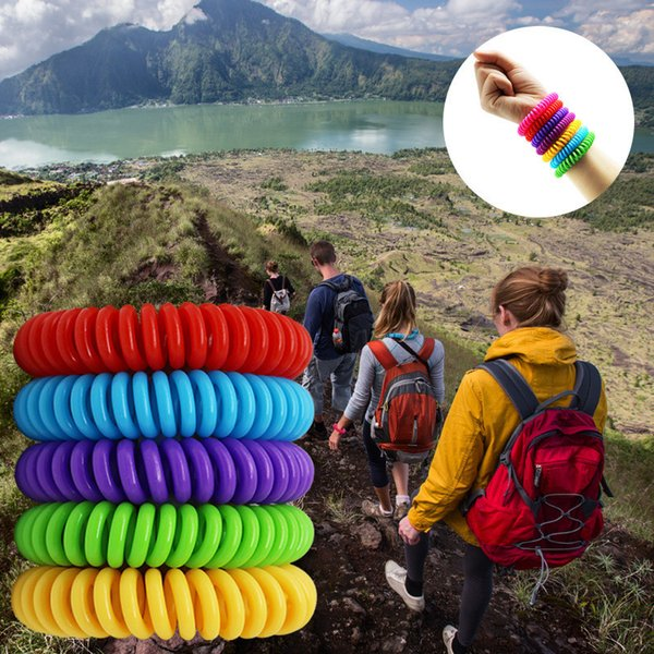 Mosquito Repellent Bracelet Stretchable Elastic Coil Spiral Hand Wrist Band Telephone Ring Chain Anti-mosquito Bracelet ECO Friendly A5905