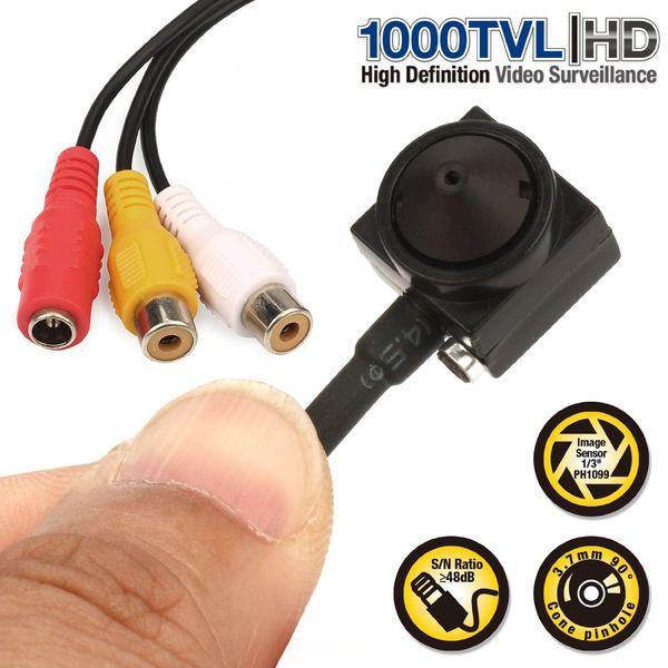 CCTV 1/3 Sony CCD 1000TVL 3.7mm wider angle HD Mini Security Surveillance Camera with audio Microphone Mic