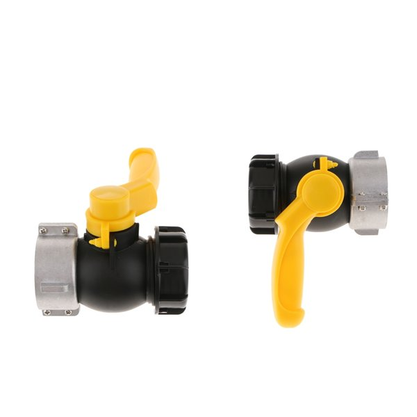 top popular 2Pcs IBC Tote Tank Drain Adapter Garden Hose Fitting Ball Value 75mm To 2 2021