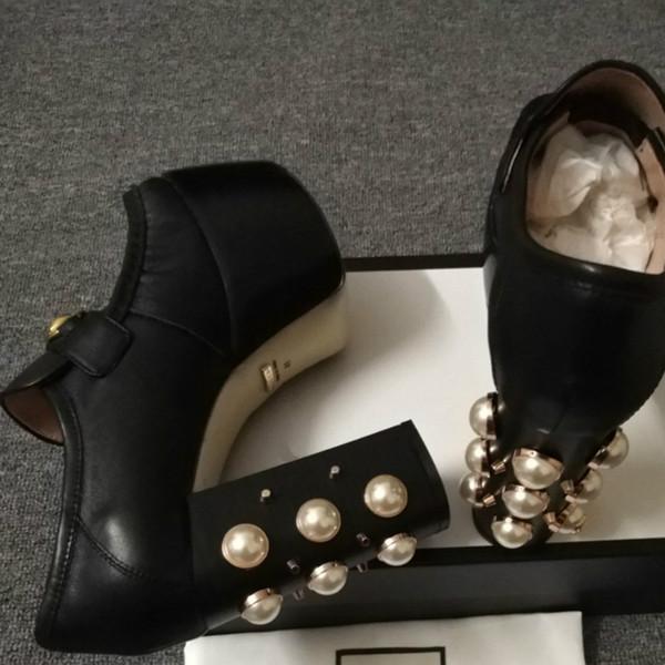 2019 yeni moda bayan ayakkabıları high-end kalite sandalet 35-41 tasarımcı klasik stil yüksek topuklu Avrupa istasyonu moda trendi (kutu ile)