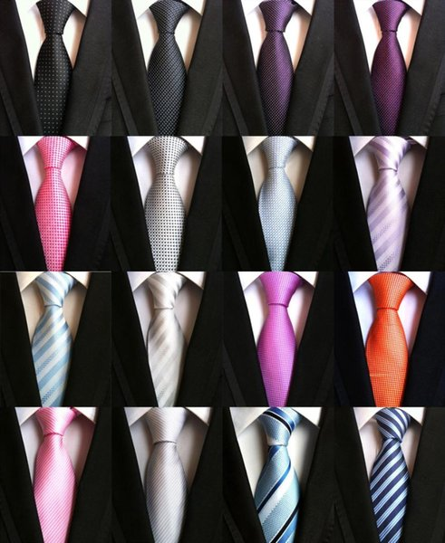 New Classic Patterns Light Blue White JACQUARD WOVEN 100/% Silk Men/'s Tie Necktie