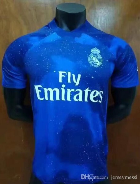 new concept 2c49e d1d39 2019 2019 New Real Madrid Football Uniform 2018/19 Blue Star Men'S Football  Jersey ISCO ASENSIO BALE KROOS Jersey From Topjersey007, &Price; | ...