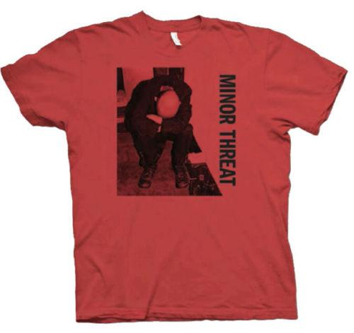 MINOR THREAT T-Shirt Red Album Ian MacKaye New Authentic S-XL Men Women Unisex Fashion tshirt Free Shipping