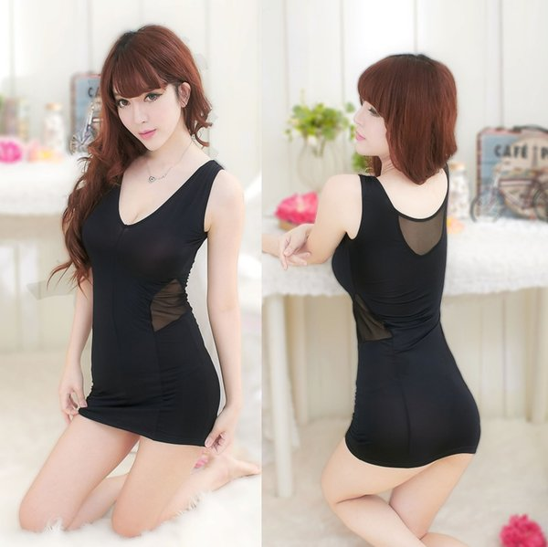 Women Thin One-piece Sexy Lingerie Corsets Formal Dinner Evening Full Stage Dance Performance Wear Dresses Gown Outfits Skirt