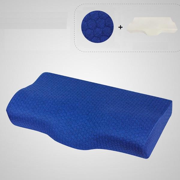 cuscino collo blu