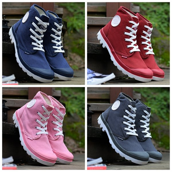 2019 New palladium Brand boots Women Men Designer Sports Red White Winter Sneakers Casual Trainers Mens Women Luxury ACE boot
