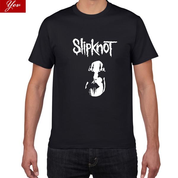 Yeni Amerikan Ağır Metal Slipknot Dalga Tshirt Erkekler metal 100% pamuk T Gömlek Hip Hop Tee Streetwear Serin Erkek Giyim
