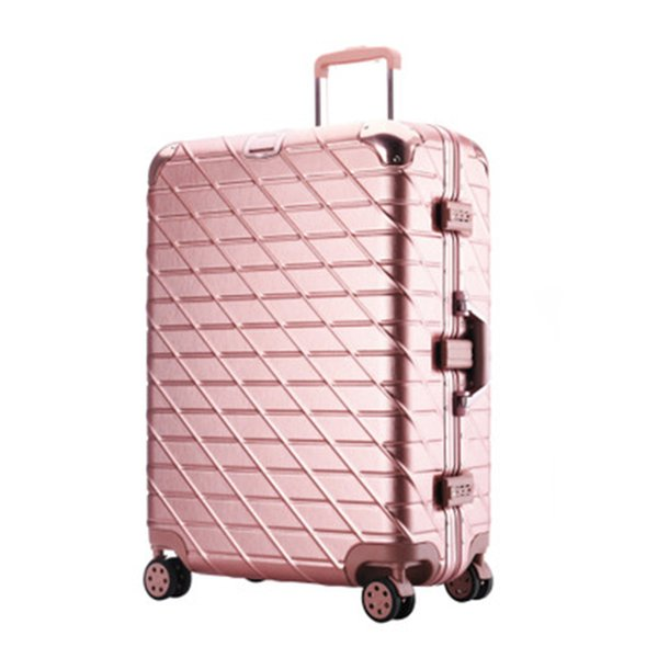 Aluminum Frame Travel suitcase Rolling Spinner Luggage 20/29inch carry-on box travel bags Woman suitcase with wheel trolley case