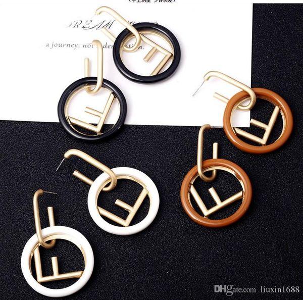 S925 Silver Needle New Boucles d'oreilles 2019 New Designer Long Pin Simple goutte d'orange yl0602026